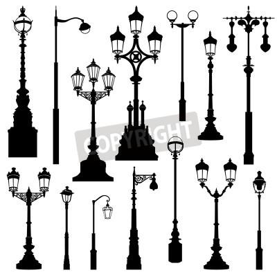 Наклейка Уличный фонарь установлен. Уличные фонари Ретро-коллекция.