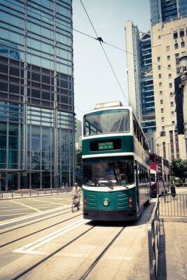 Наклейка Трамвай в Гонконге