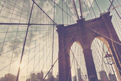 Наклейка Структурная деталь Бруклинского моста