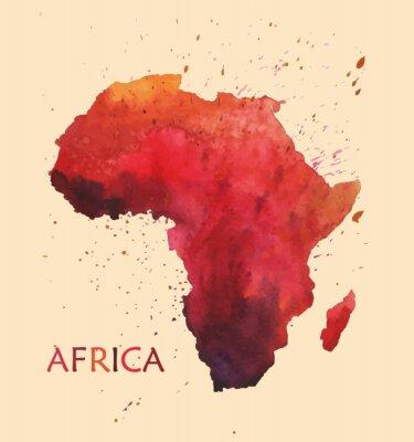 Наклейка Стилизованная карта Африки.