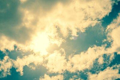 Наклейка Солнце через облака нарушение