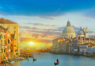 Наклейка Восход солнца в Венеции