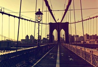 Наклейка Закат послесвечения в передней части Бруклинского моста