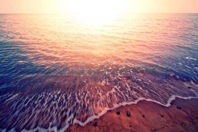 Наклейка Закат над морем.