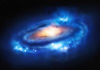 Наклейка Супер массивной галактики