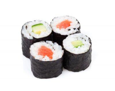 Наклейка Суши Маки с лососем и огурцом набора