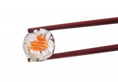 Наклейка Суши на белом фоне