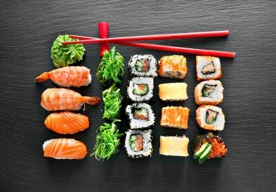 Наклейка набор для суши и палочки для еды