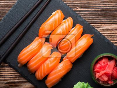 Наклейка Суши с лососем