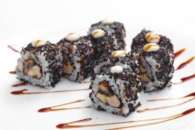 Наклейка вкусные суши