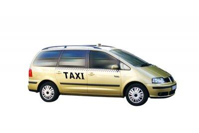 Наклейка Изолированные Такси Автобус