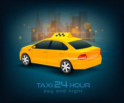 Наклейка автомобиль такси