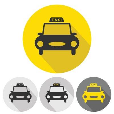 Наклейка установить автомобиль такси плоские иконки