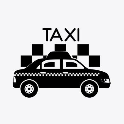 Наклейка Дизайн такси.