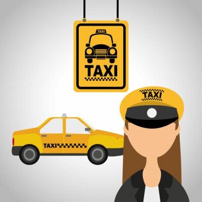 Наклейка служба такси