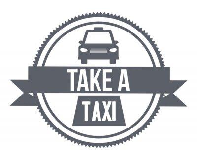 Наклейка дизайн службы такси
