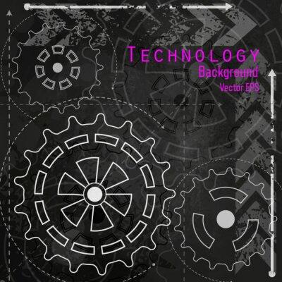 Наклейка Технология фон на доске.
