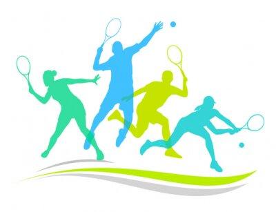 Наклейка Tennis - 170