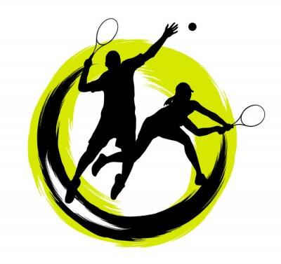 Наклейка Теннис - 204