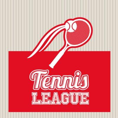 Наклейка дизайн теннис лига