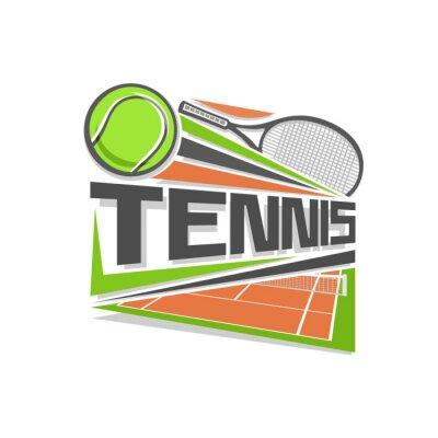 Наклейка Теннис логотип