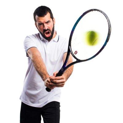 Наклейка Теннисист