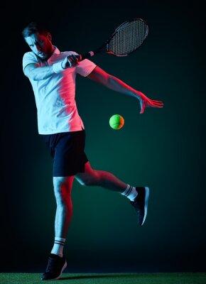 Наклейка теннисист человек изолирован
