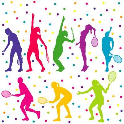 Наклейка Теннисисты силуэт коллекции