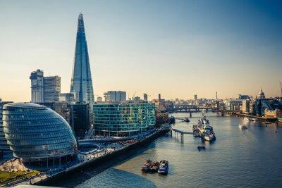 Наклейка Темза и Лондонский Сити