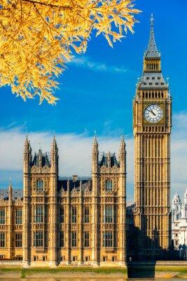 Наклейка Биг Бен и Дом Парламента, Лондон, Великобритания.