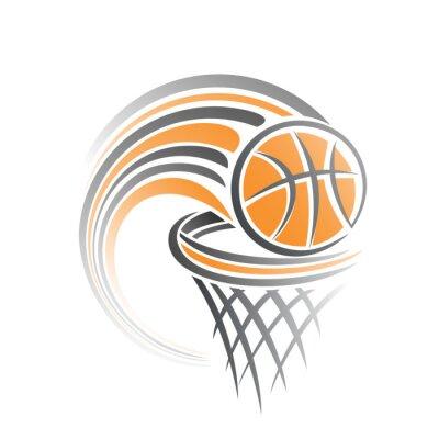 Наклейка Образ баскетбольного мяча