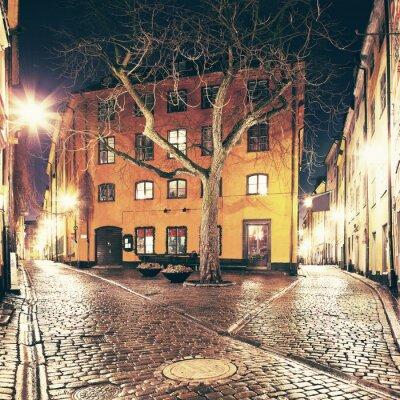 Наклейка Скверик где-то в Гамла Стан, Стокгольм.