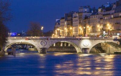 Наклейка Понт-Сен-Мишель, Париж, Франция.
