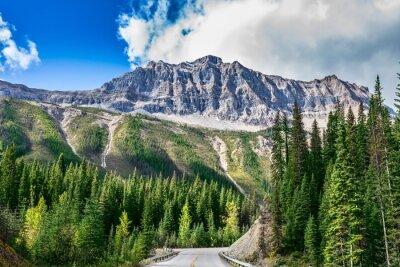 Наклейка Дорога в Национальный парк Йохо в Канаде