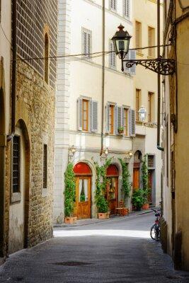 Наклейка The Via Lambertesca street at historic center of Florence, Italy