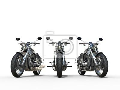 Наклейка Три великолепных старинных мотоциклов