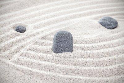 Наклейка Три камни в песке, дзен концепция