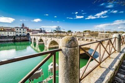 Наклейка Мост Тиберия в Римини