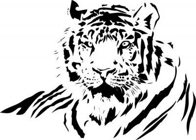Наклейка лицо тигра