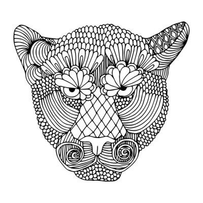 Наклейка Тигр глава