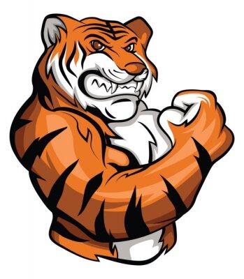 Наклейка Тигр талисман