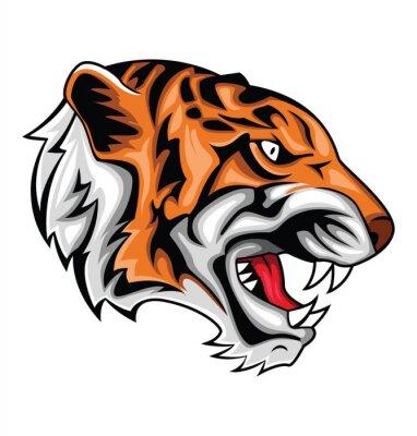 Наклейка тигр рев