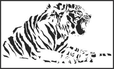 Наклейка tiger_sitting