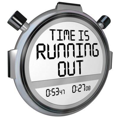 Наклейка Время истекает Секундомер Таймер Часы