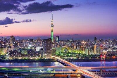 Наклейка Токио, Япония Skyline
