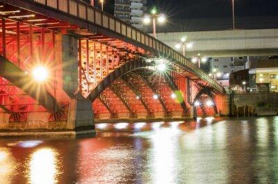 Наклейка Токио Ночной мост