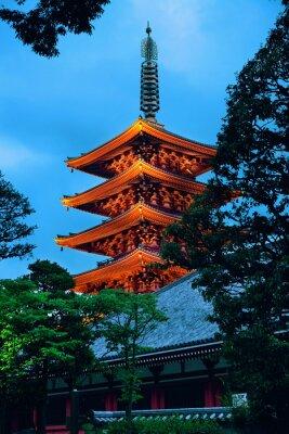 Наклейка Храм Токио