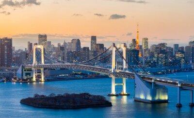 Наклейка Tokyo Tower Rainbow Bridge