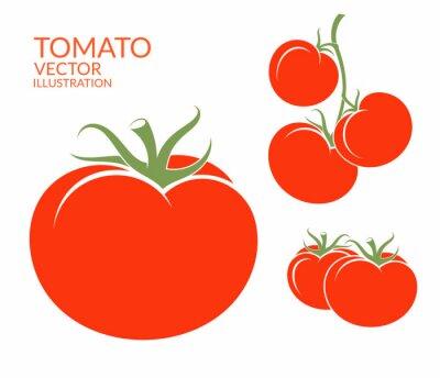 Наклейка Помидор. Изолированные овощи на белом фоне
