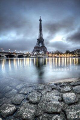 Наклейка Эйфелева башня - Париж - Франция